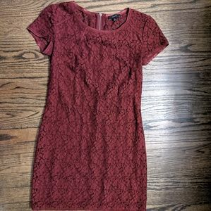 TALULA - Oji BURGUNDY Lace Dress